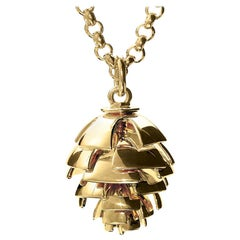 Cassandra Goad Furu Kongle 9 Karat Gold Pine Cone Pendant
