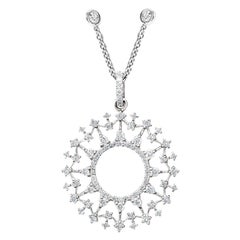 Cassandra Goad La Martorana Mosaic 18 Karat White Gold and Diamond Pendant