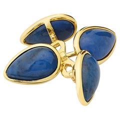 Cassandra Goad Ovale Lapis Lazuli Gold Cufflinks