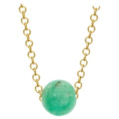 Cassandra Goad Pelota Emerald and 9 Karat Gold Necklace