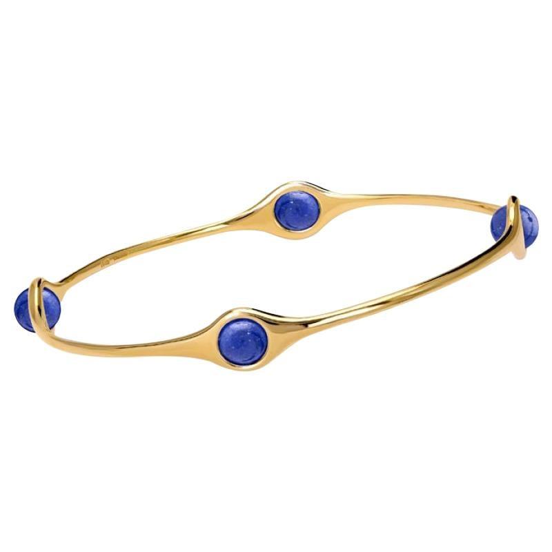 Cassandra Goad Persephone Gold and Lapis Lazuli Bangle
