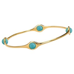 Cassandra Goad Persephone Gold and Turquoise Bangle