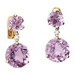 Cassandra Goad Riviere Double Amethyst and Diamond Earrings