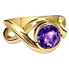 Cassandra Goad Severine Gold and Amethyst Ring