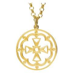 Cassandra Goad St. Xenia 9 Karat Gold Cross