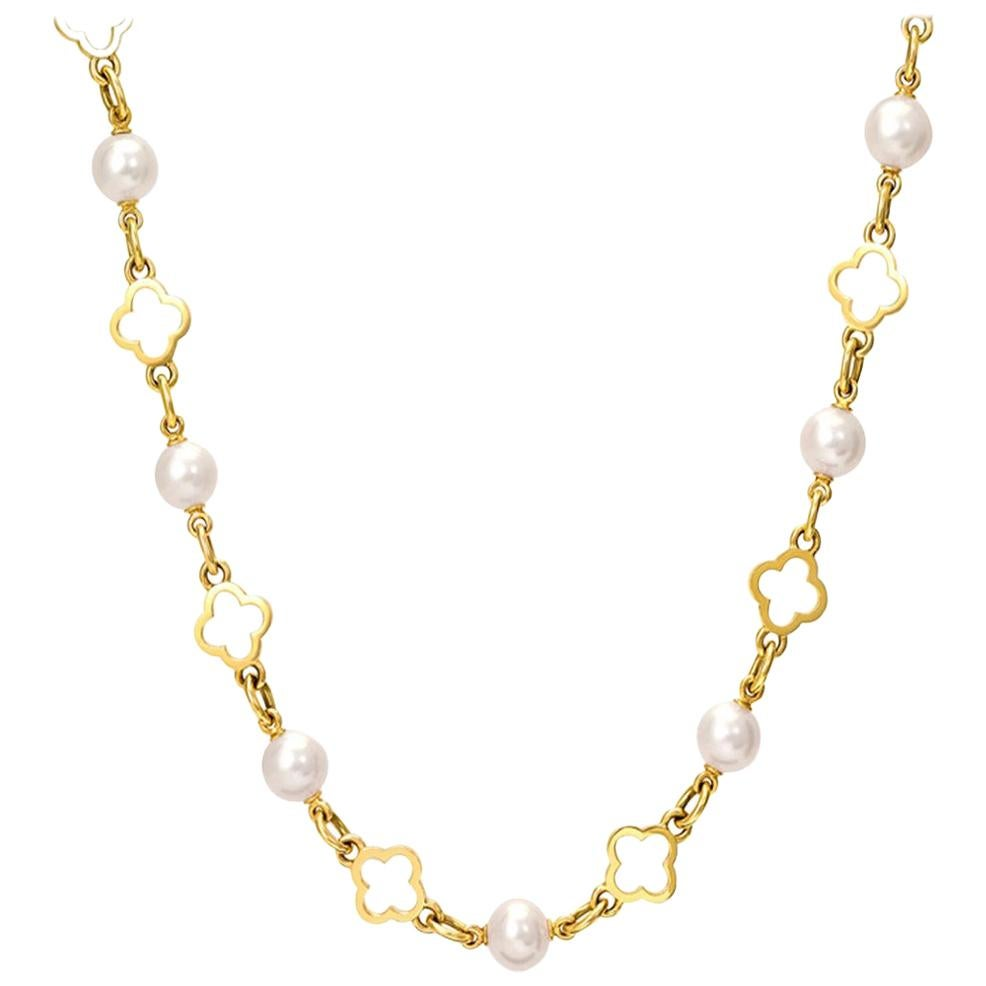 Cassandra Goad Star Anise Pearl and Gold Necklace