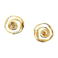 Cassandra Goad Tagliatelle 9 Karat Gold Studs