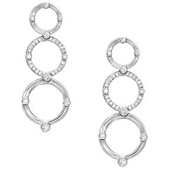Cassandra Goad Volo d'Angelo Drop Earrings in White Gold and Diamonds