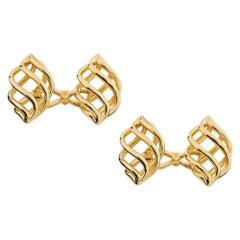 Cassandra Gold Montejo Gold Cufflinks