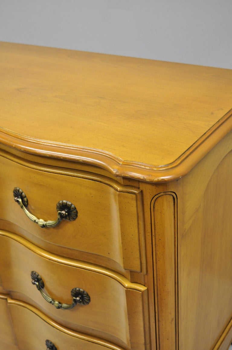 Cassard Country French Provincial Louis XV Style Commode Fruitwood Chest Drawers For Sale 5