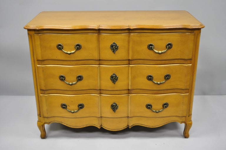 Cassard Country French Provincial Louis XV Style Commode Fruitwood Chest Drawers For Sale 6