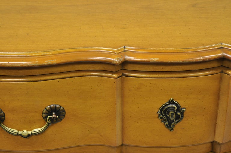 Cassard Country French Provincial Louis XV Style Commode Fruitwood Chest Drawers For Sale 2