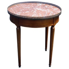 Cassard Romano Louis XVI Style Marble-Top Bouillotte Table