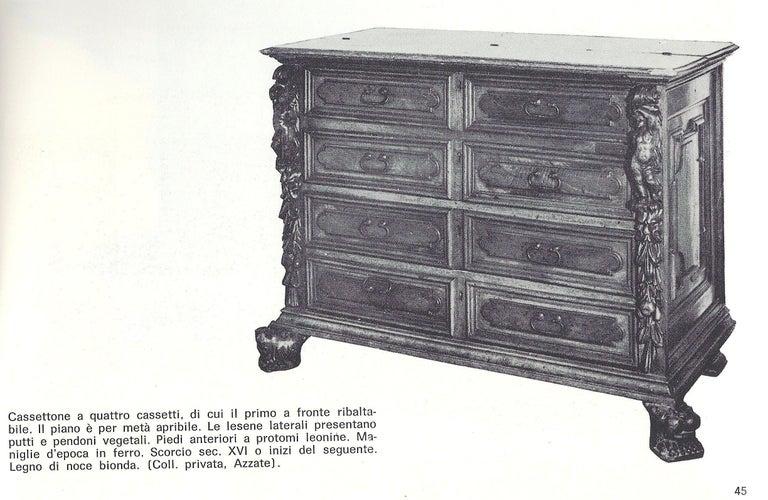 Carved Cassettone or Bureau-Chest, Late 16th Century, Italian Renaissance, Walnut For Sale