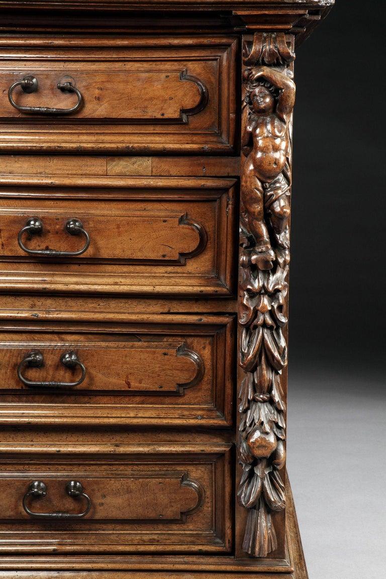 Cassettone or Bureau-Chest, Late 16th Century, Italian Renaissance, Walnut For Sale 1
