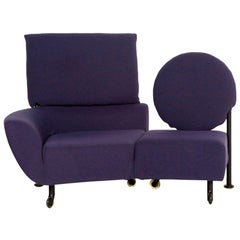 Cassina 290 TopKapi Fabric Sofa Violet Two-Seat Function Relax Function Couch