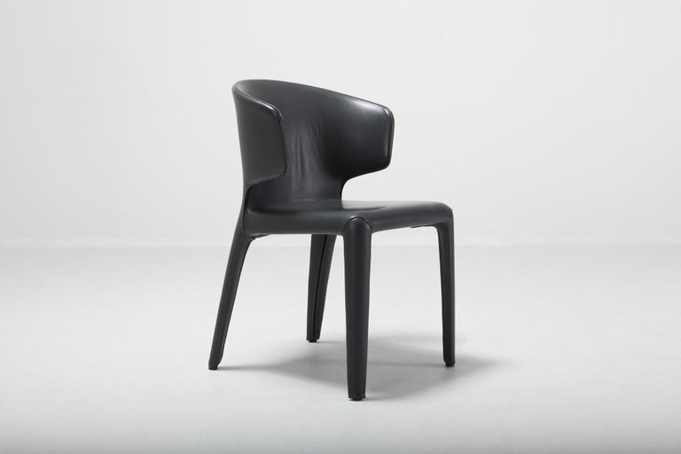 Cassina 367 Hola Chairs By Hannes Wettstein Full Leather