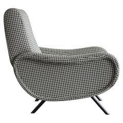 Cassina 720 Lady Chair with Iconic Pattern and Black Legs