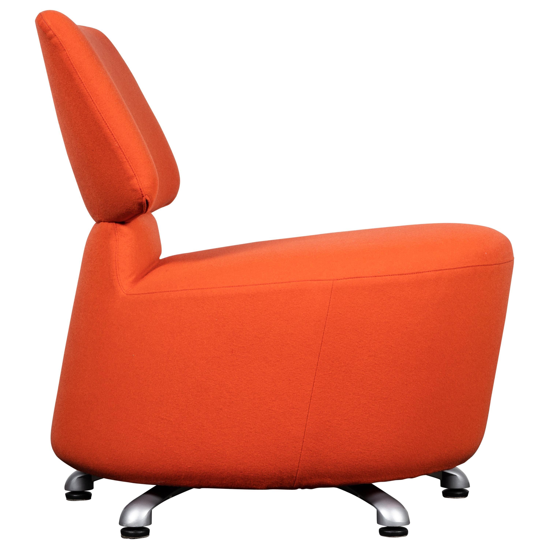 "Cassina ""Aki"" Swivel Chair in Blood Orange by Toshiyuki Kita"