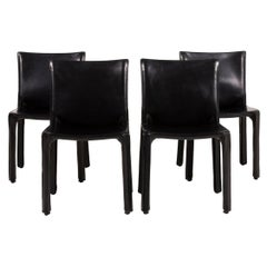 Cassina Cab 412 Leather Chair Black Dining Room
