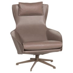 Cassina Cab 423 Leather Armchair Brown Gray Brown