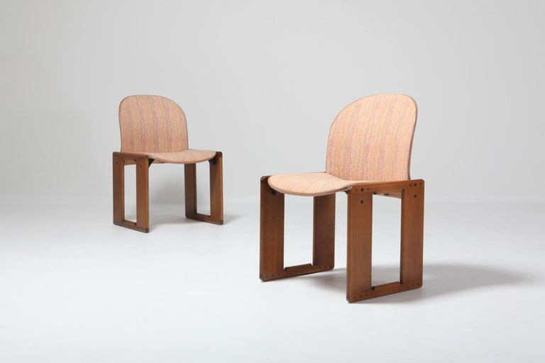 Cassina Dining Chairs Model 121 by Afra & Tobia Scarpa For Sale 5