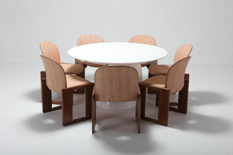 Cassina Dining Chairs Model 121 by Afra & Tobia Scarpa For Sale 7