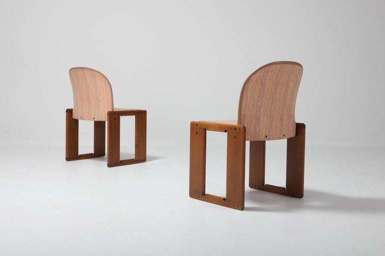 Post-Modern Cassina Dining Chairs Model 121 by Afra & Tobia Scarpa For Sale