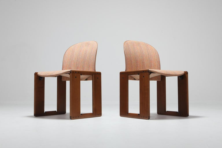 Cassina Dining Chairs Model 121 by Afra & Tobia Scarpa In Excellent Condition For Sale In Antwerp, BE