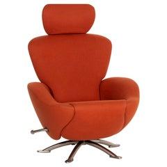Cassina Dodo Alcantara Fabric Armchair Orange Terracotta Relax Function