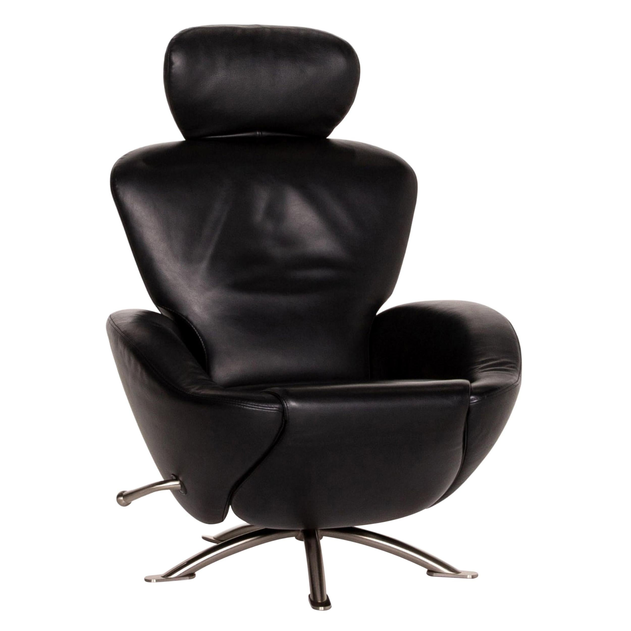 Cassina Dodo Leather Armchair Black Relaxation Function Function Relaxation