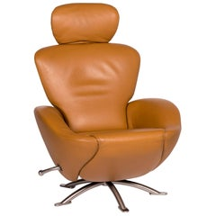 Cassina Dodo Leather Armchair Cognac Brown Relax Function Function