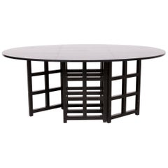 Cassina d.s. 1 Designer Wood Dining Table Black