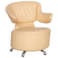 Cassina K06 Aki Biki Canta Leather Armchair Cream