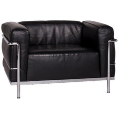 Cassina LC 3 Leather Armchair Black