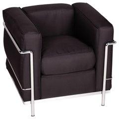 Cassina Le Corbusier LC 2 Fabric Armchair Black