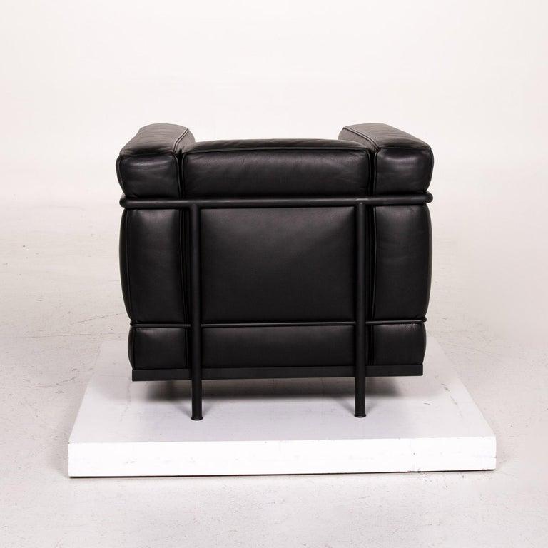 Cassina Le Corbusier LC 2 Leather Armchair Black 6