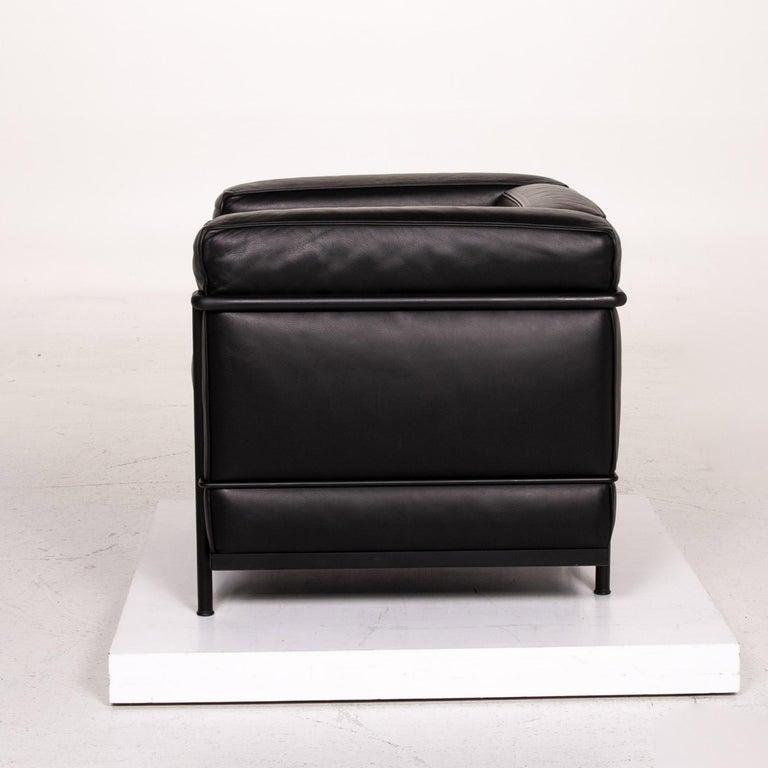 Cassina Le Corbusier LC 2 Leather Armchair Black 7