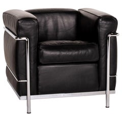 Cassina Le Corbusier LC 2 Leather Armchair Black