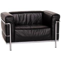 Cassina Le Corbusier LC 3 Leather Armchair Black