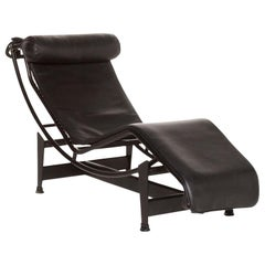 Cassina Le Corbusier LC 4 Lounger Black Relax Lounger Relax Function Function