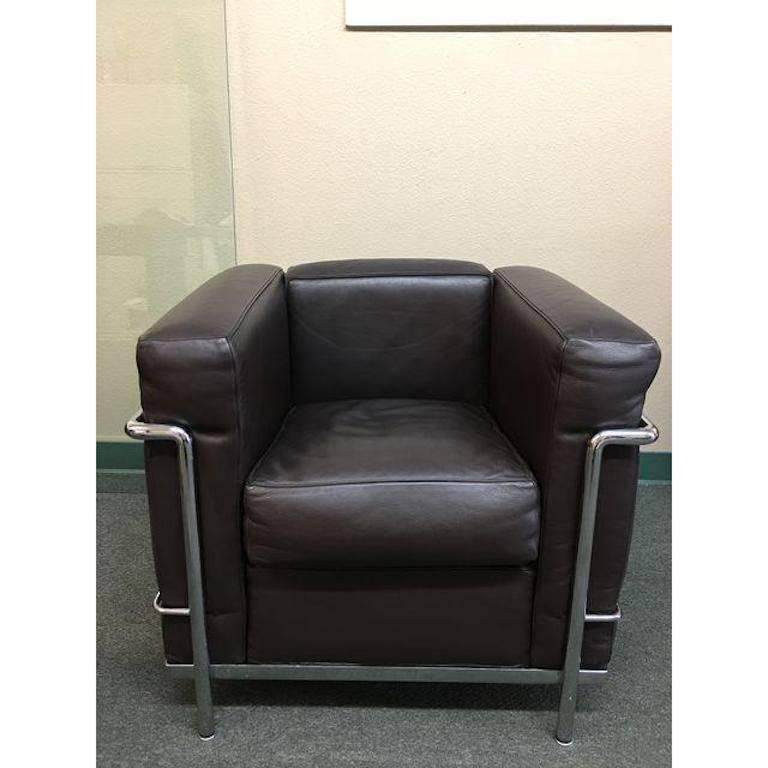 Cassina Le Corbusier LC2 Poltrana Leather Armchair For Sale at 1stdibs