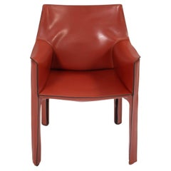 Cassina Leather Cab Chair by Mario Bellini Cab 413 in Red