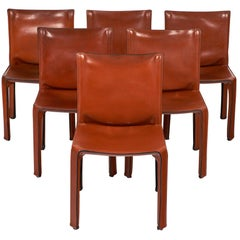 Cassina Leather Dining Chairs