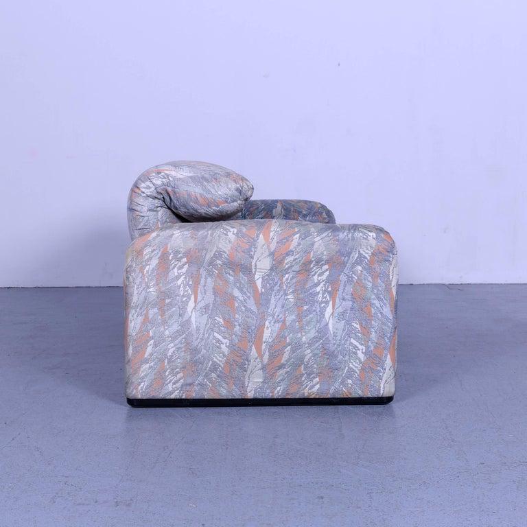 Cassina Maralunga Fabric Sofa Blue Grey Two-Seat Pattern 2