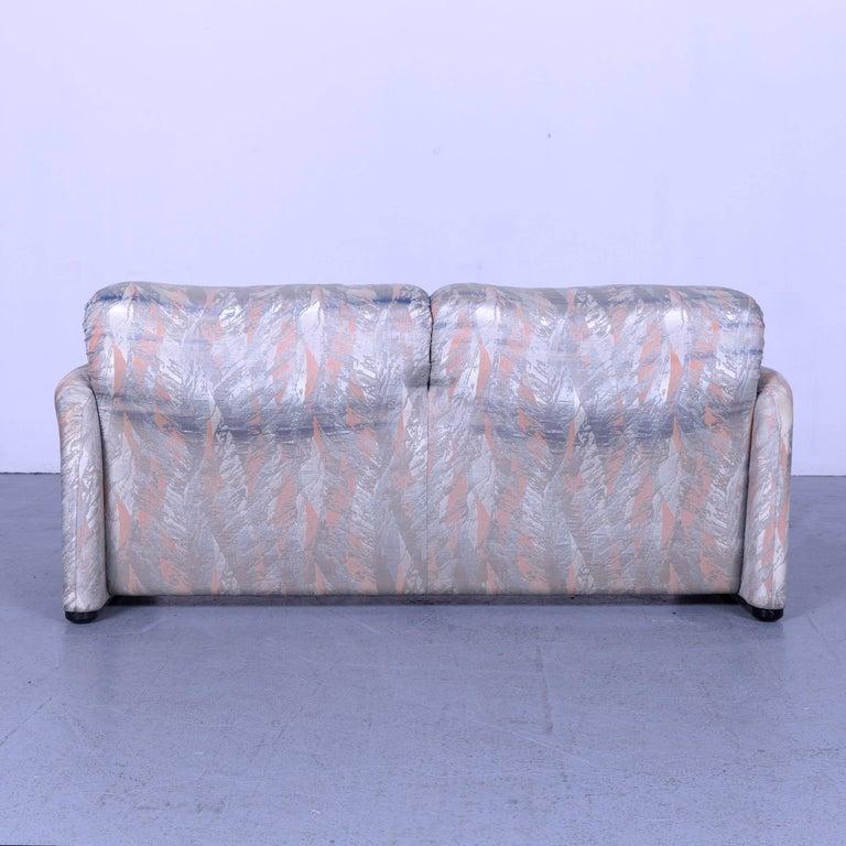 Cassina Maralunga Fabric Sofa Blue Grey Two-Seat Pattern 3