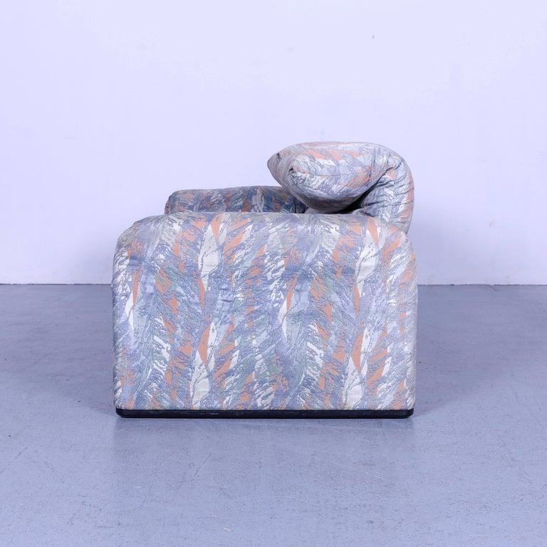 Cassina Maralunga Fabric Sofa Blue Grey Two-Seat Pattern 4