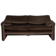 Cassina Maralunga Fabric Sofa Olive Green Green Two-Seat Couch