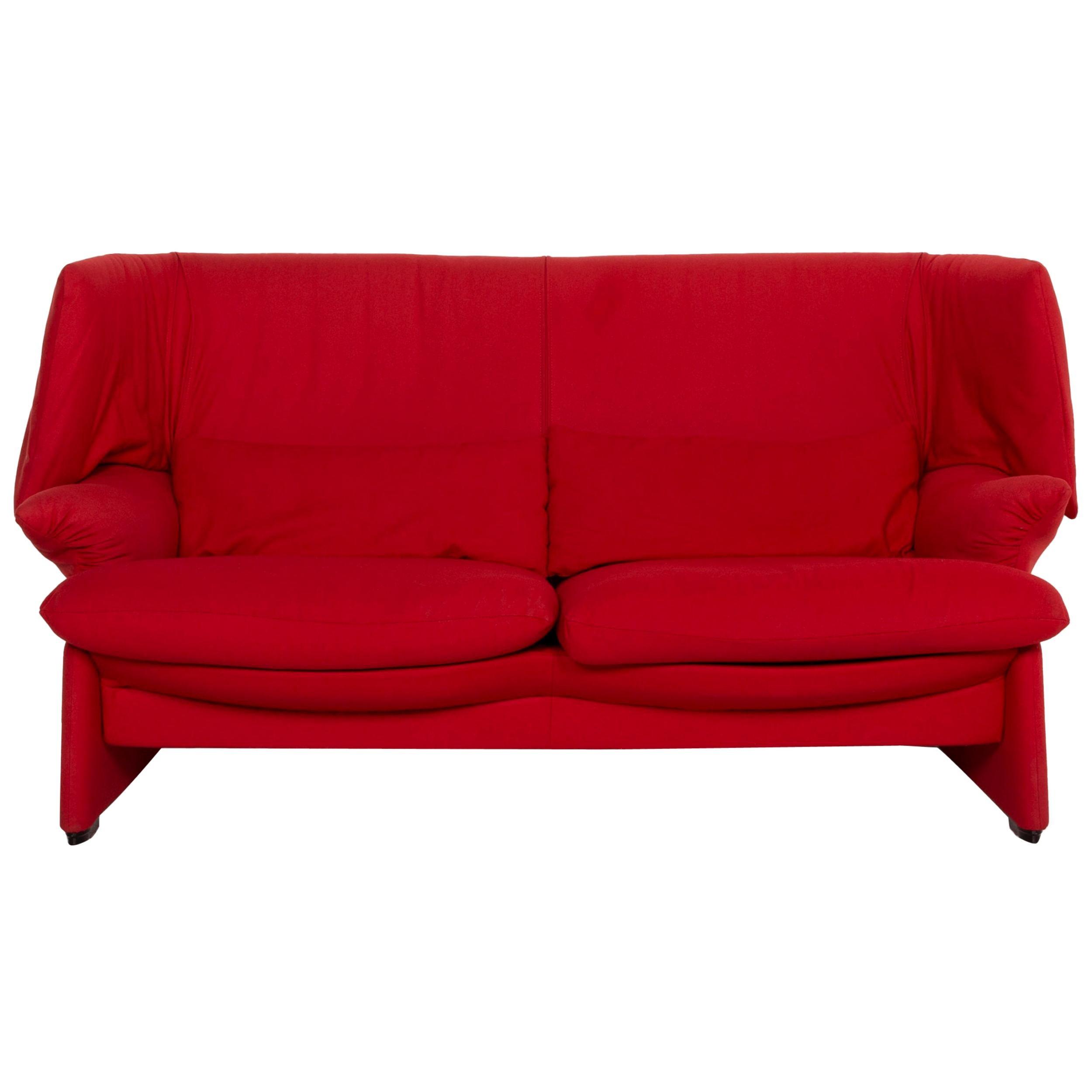 Cassina Maralunga Fabric Sofa Red Two-Seater