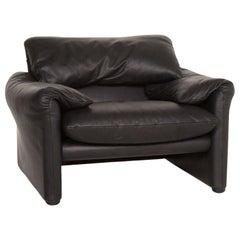 Cassina Maralunga Leather Armchair Black Function